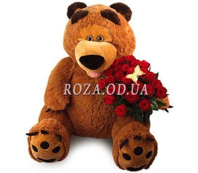 """""""Большой мишка с розами"""" в интернет-магазине цветов roza.od.ua"""