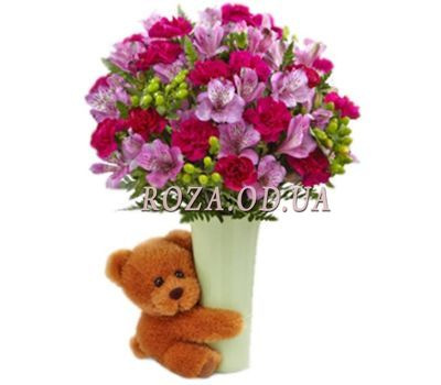 """Bouquet of carnations and alstroemerias"" in the online flower shop roza.od.ua"