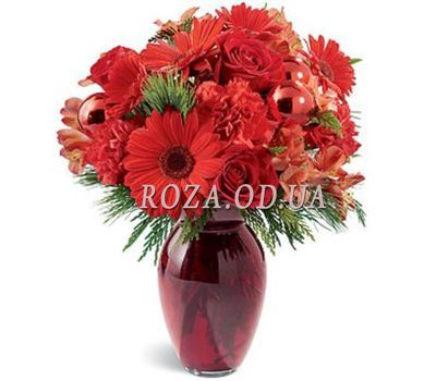 """Bouquet of gerberas, roses and carnations"" in the online flower shop roza.od.ua"