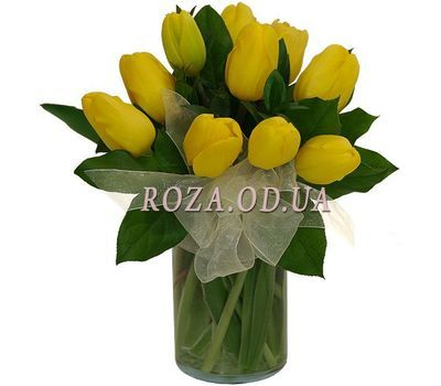 """Bouquet of 11 tulips"" in the online flower shop roza.od.ua"
