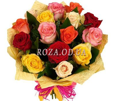 """Bouquet of mixed colored roses"" in the online flower shop roza.od.ua"