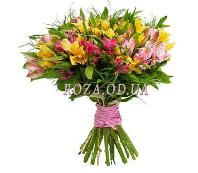 """Bouquet of 21 alstroemerias"" in the online flower shop roza.od.ua"