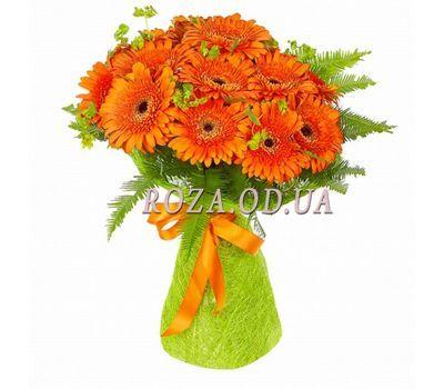 """25 orange gerberas"" in the online flower shop roza.od.ua"