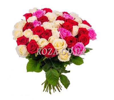 """Bouquet of 35 multicolored roses"" in the online flower shop roza.od.ua"