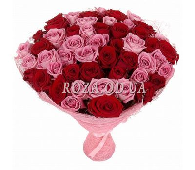 """51 multi-colored rose"" in the online flower shop roza.od.ua"