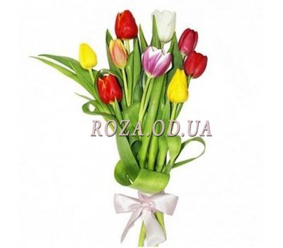 """Bouquet of 9 Tulips"" in the online flower shop roza.od.ua"