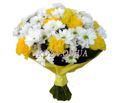 """Bouquet of chrysanthemums and roses"" in the online flower shop roza.od.ua"