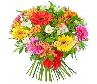 """Bouquet of gerberas and alstroemerias"" in the online flower shop roza.od.ua"