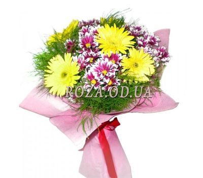 """Bouquet of chrysanthemums and gerberas"" in the online flower shop roza.od.ua"