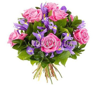 """Букет из роз и ирисов"" в интернет-магазине цветов roza.od.ua"