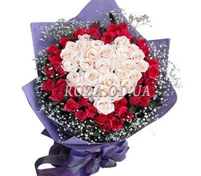 """""""Букет у формі серця"""" в интернет-магазине цветов roza.od.ua"""