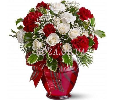 """New Year bouquet of flowers"" in the online flower shop roza.od.ua"