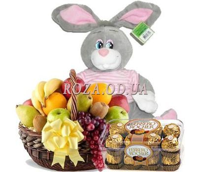 """Fruit, bunny, candy"" in the online flower shop roza.od.ua"