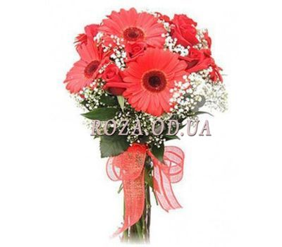 """Gerberas and roses"" in the online flower shop roza.od.ua"