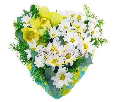 """Heart shaped composition"" in the online flower shop roza.od.ua"