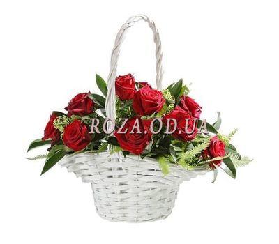 """Корзина из 11 роз"" в интернет-магазине цветов roza.od.ua"