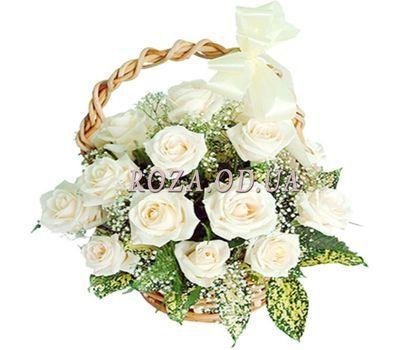 """Basket of 17 roses"" in the online flower shop roza.od.ua"
