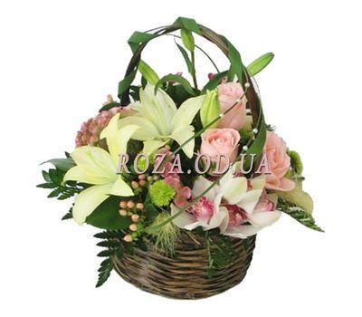 """""""Корзина цветов из орхидей и роз"""" в интернет-магазине цветов roza.od.ua"""