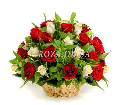"""""""Корзина из 41 розы"""" в интернет-магазине цветов roza.od.ua"""
