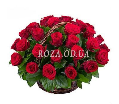"""Basket of red roses"" in the online flower shop roza.od.ua"
