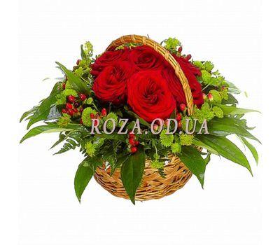 """Корзина из роз и хризантем"" в интернет-магазине цветов roza.od.ua"