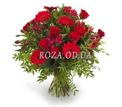 """""""Bouquet of flowers from alstromeries and gerberas"""" in the online flower shop roza.od.ua"""