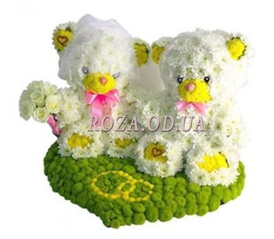 """""""Bears from flowers"""" in the online flower shop roza.od.ua"""