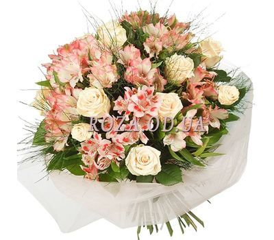 """Bouquet of roses and alstroemerias"" in the online flower shop roza.od.ua"