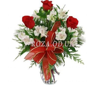 """Bouquet of flowers from roses and alstroemerias"" in the online flower shop roza.od.ua"