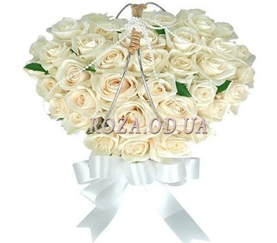 """Heart of white roses"" in the online flower shop roza.od.ua"