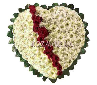 """""""Сердце из хризантем и роз"""" в интернет-магазине цветов roza.od.ua"""