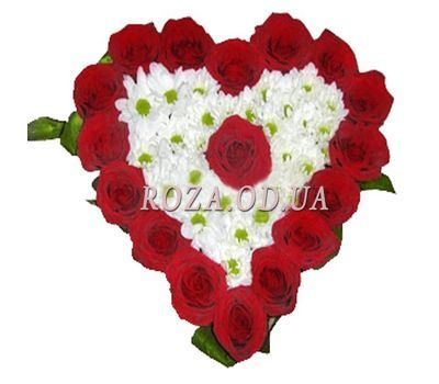 """Heart of roses and chrysanthemums"" in the online flower shop roza.od.ua"