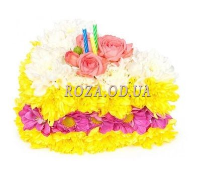 """Cake of flowers"" in the online flower shop roza.od.ua"