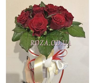 """11 roses in box  - photo 1"" in the online flower shop roza.od.ua"