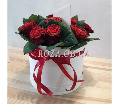 """11 roses in box  - photo 2"" in the online flower shop roza.od.ua"