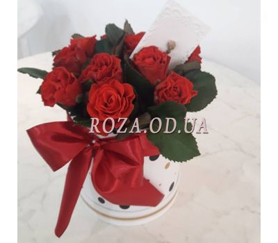"""11 roses in box  - photo 3"" in the online flower shop roza.od.ua"