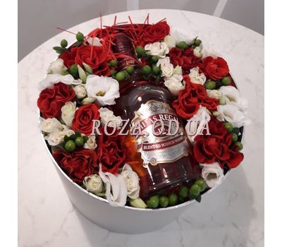 """""""Flowers and whiskey - photo 1"""" in the online flower shop roza.od.ua"""