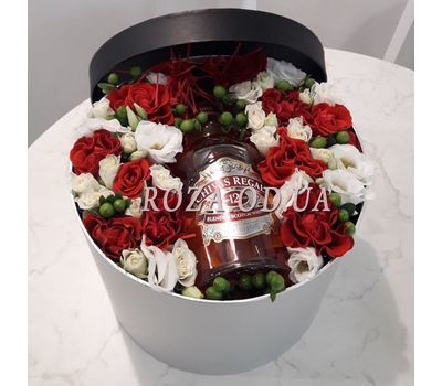 """""""Flowers and whiskey - photo 2"""" in the online flower shop roza.od.ua"""