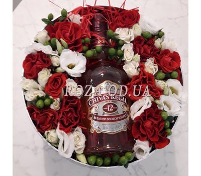 """""""Flowers and whiskey - photo 3"""" in the online flower shop roza.od.ua"""