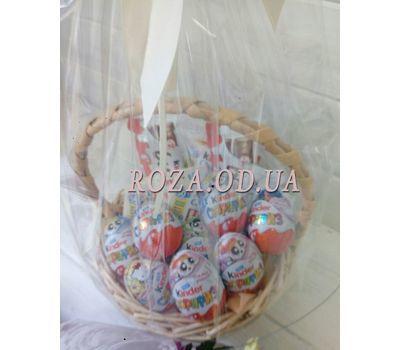 """""""Корзина с шоколадом киндер - фото 1"""" в интернет-магазине цветов roza.od.ua"""