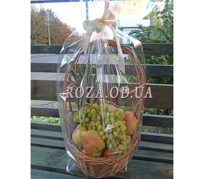 """""""Basket of juicy fruits - photo 2"""" in the online flower shop roza.od.ua"""
