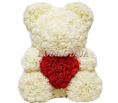 """""""Белый мишка из латексных роз"""" в интернет-магазине цветов roza.od.ua"""