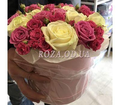 """""""Нежный букет в шляпной коробке - фото 1"""" в интернет-магазине цветов roza.od.ua"""