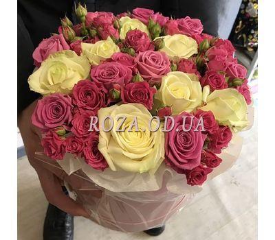 """""""Нежный букет в шляпной коробке - фото 2"""" в интернет-магазине цветов roza.od.ua"""