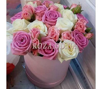 """""""Нежный букет в шляпной коробке - фото 3"""" в интернет-магазине цветов roza.od.ua"""