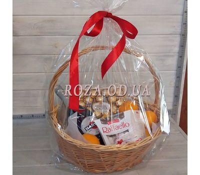 """Gift basket with fine champagne - photo 1"" in the online flower shop roza.od.ua"