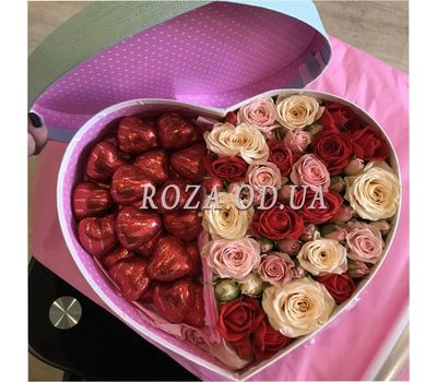 """Heart for two - photo 1"" in the online flower shop roza.od.ua"