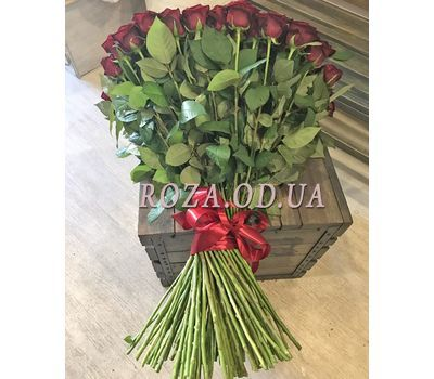 """101 red rose 80 cm 4"" in the online flower shop roza.od.ua"