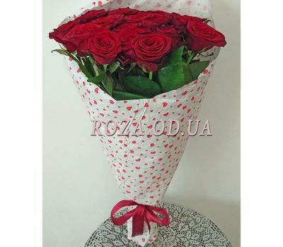 """15 red roses 1"" in the online flower shop roza.od.ua"