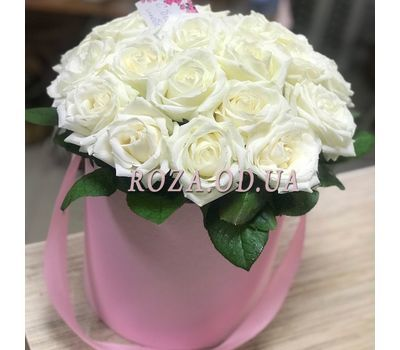 """21 роза в коробке 2"" в интернет-магазине цветов roza.od.ua"